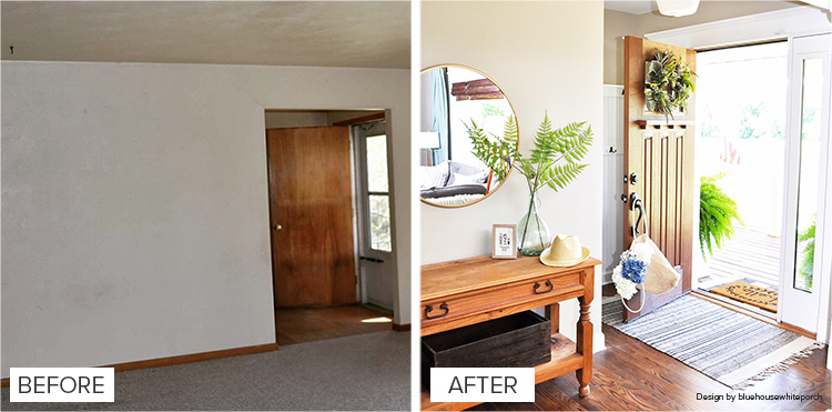 Modern Staircase Before And After Entry