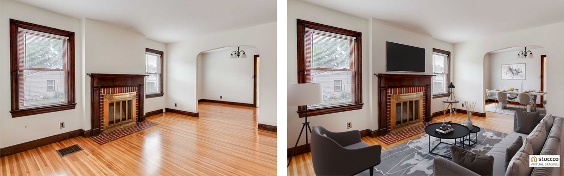 Laura Grubb Before and After Virtual Staging Examples