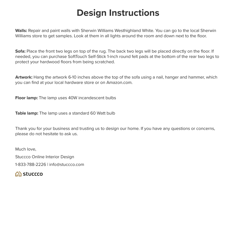 Example Design Instructions