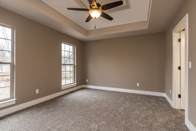 vacant master bedroom